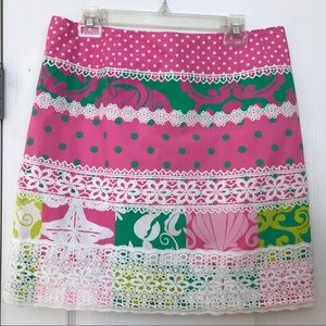 Lily Pulitzer Lace Skirt 12